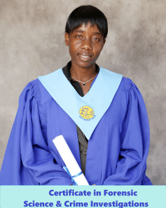 Brenda - Certificate in Forensic Science and Crime Investigation